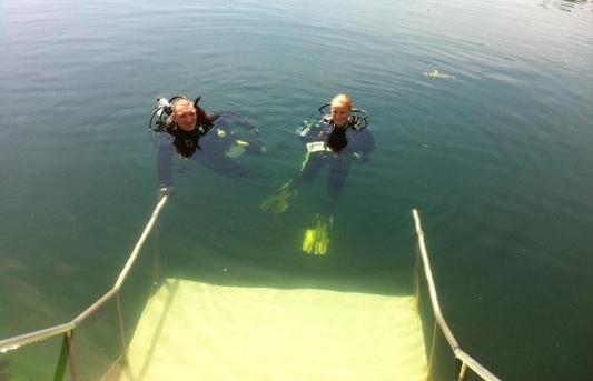 Mermet Springs Divers getting ready to go diving