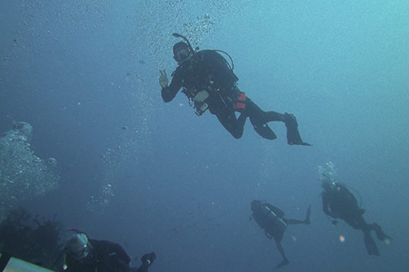 Toucan Divers in Grand Cayman About To Find The Action