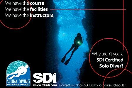 SDI Solo Diver Course Starts  April 15th